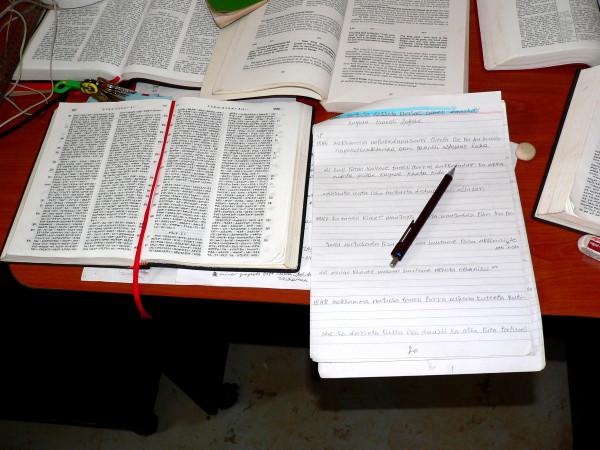 Raamatunkäännöstyössä on vielä paljon tekemistä