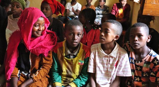 Etiopian kummilapsia helmikuussa 2020. Kuva: Pauliina Hilden