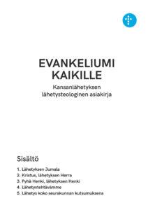 Lähetysteologisen asiakirjan kansikuva