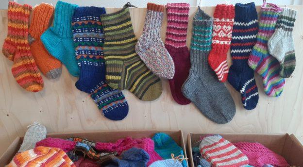 Sukkia sukkavarastolla Tuurissa odottamassa lähtöä.
