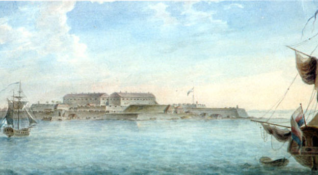 Svartholman linnoitus Gavril Sergejevin ikuistamana vuonna 1809