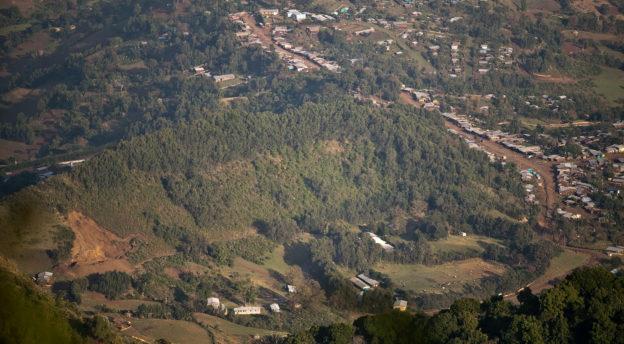 Ameyan kaupunki vuorelta kuvattuna. Kuva: Jarkko Viljanen